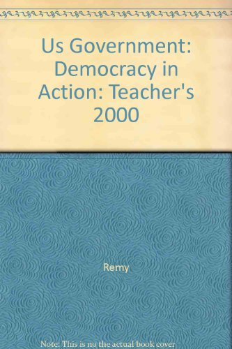 United States Government: Democracy In Action Teacher'S Wraparound Edition