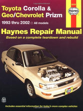 Load image into Gallery viewer, Toyota Corolla & Geo/Chevrolet Prizm Automotive Repair Manual