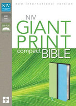 Load image into Gallery viewer, Niv, Giant Print Compact Bible, Giant Print, Leathersoft, Green/Blue
