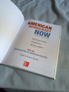 American Democracy Now, Psc 101, 3Rd Edition