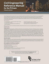 Load image into Gallery viewer, Civil Engineering Reference Manual For The Pe Exam, 15Th Ed