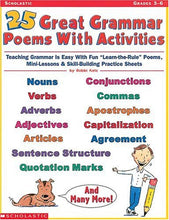 Load image into Gallery viewer, 25 Great Grammar Poems With Activities (Grades 3-6)