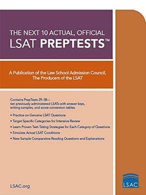 The Next 10 Actual, Official Lsat Preptests (Lsat Series)