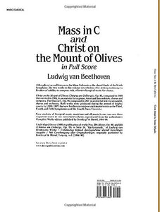 Mass In C And Christ On The Mount Of Olives In Full Score (Dover Music Scores)