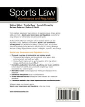 Load image into Gallery viewer, Sports Law: Governance And Regulation (Aspen College)
