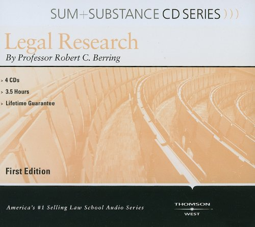 Legal Research (Sum + Substance Cd Series) (Outstanding Professor Series)