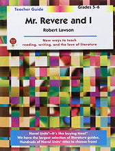 Load image into Gallery viewer, Mr. Revere And I - Teacher Guide By Novel Units