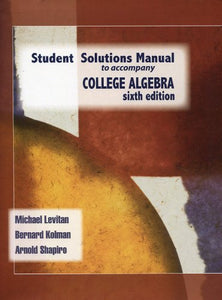 College Algebra (Student Solutions Manual)