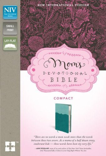 Niv, Mom'S Devotional Bible, Compact, Leathersoft, Turquoise