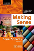 Load image into Gallery viewer, Making Sense In The Social Sciences: A Student'S Guide To Research And Writing