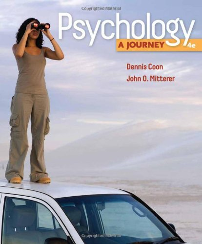 Psychology: A Journey (Available Titles Coursemate)