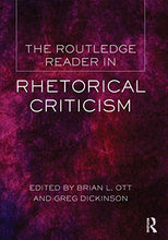 Load image into Gallery viewer, The Routledge Reader In Rhetorical Criticism
