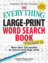 Load image into Gallery viewer, The Everything Large-Print Word Search Book, Volume 11: More Than 120 Puzzles In Easy-To-Read Large Print