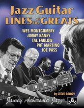 Load image into Gallery viewer, Jazz Guitar Lines Of The Greats: Wes Montgomery * Jimmy Raney * Tal Farlow * Pat Martino * Joe Pass, Spiral Bound Book