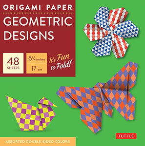Origami Paper Geometric Prints: 49 Sheets