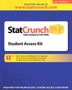 Statcrunch -- Standalone Access Card (6-Month Access)
