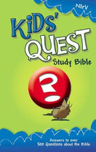 Load image into Gallery viewer, Nirv, Kids' Quest Study Bible, Hardcover: Real Questions, Real Answers (New International Readers Version)