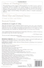 Load image into Gallery viewer, Moral Man And Immoral Society: Study In Ethics And Politics (Library Of Theological Ethics)