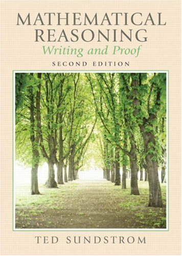 Mathematical Reasoning: Writing And Proof (2Nd Edition)