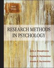 Load image into Gallery viewer, Research Methods In Psychology, 9Th Edition