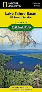 Lake Tahoe Basin [Us Forest Service] (National Geographic Trails Illustrated Map)