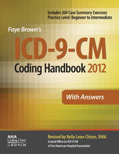 Load image into Gallery viewer, Icd-9-Cm Coding Handbook, With Answers, 2012 Revised Edition (Icd-9-Cm Coding Handbook With Answers (Faye Brown'S)) (Icd-9-Cm Coding Handbook W/Answers)