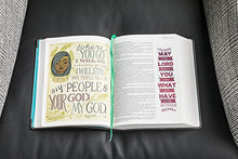 Load image into Gallery viewer, Niv, Beautiful Word Bible, Leathersoft, Brown/Blue: 500 Full-Color Illustrated Verses