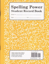 Load image into Gallery viewer, Spelling Power Student Record Book: Yellow