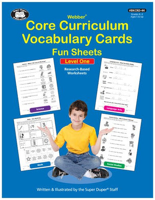 Core Curriculum Vocabulary Cards Fun Sheets Level 1