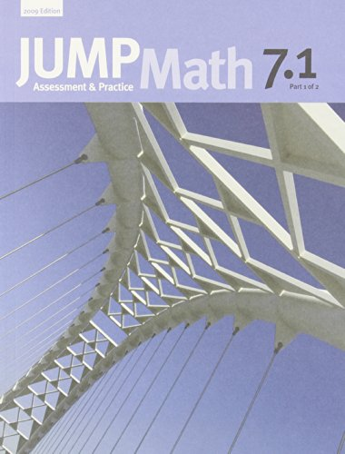 Jump Math 7.1: Book 7, Part 1 Of 2