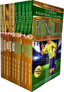 Classic Football Heroes Legend Series Collection 10 Books Set Pack By Matt & Tom Oldfield (Ronaldo, Maradona, Figo, Beckham, Klinsmann, Zidane, Rooney, Giggs, Gerrard, Carragher)