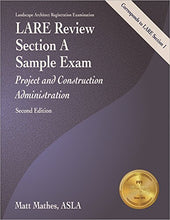 Load image into Gallery viewer, Lare Review, Section A Sample Exam: Project And Construction Administration, 2Nd Ed