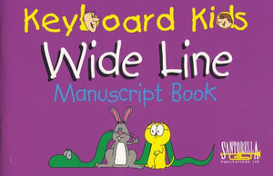 Keyboard Kids - Wide Line - Manuscript Paper