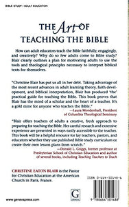 The Art Of Teaching The Bible: A Practical Guide For Adults