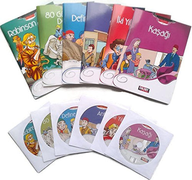 Turkish Reading Set For Beginners, Lale 1, A1-A2 Levels, A Complete Set Of 6 Story Books With Cds, For New Turkish Language Learners, Turkey