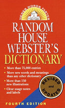Load image into Gallery viewer, Random House Webster'S Dictionary: Fourth Edition, Revised And Updated