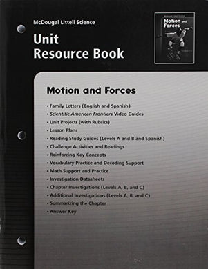 Mcdougal Littell Science: Motions And Forces: Unit Resource Book
