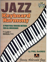 Load image into Gallery viewer, Jazz Keyboard Harmony: A Practical Voicing Method For All Musicians, Spiral-Bound Book & Cd