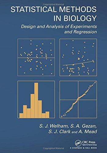 Statistical Methods In Biology: Design And Analysis Of Experiments And Regression