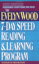 Load image into Gallery viewer, Remember Everything You Read: The Evelyn Wood 7-Day Speed Reading & Learning Program