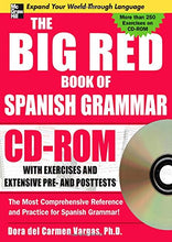 Load image into Gallery viewer, The Big Red Book Of Spanish Grammar W/Cd-Rom