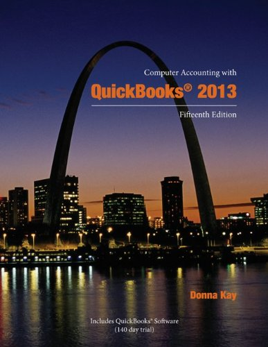 Computer Accounting With Quickbooks 2013