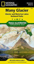 Load image into Gallery viewer, Many Glacier: Glacier And Waterton Lakes National Parks (National Geographic Trails Illustrated Map)