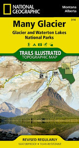 Many Glacier: Glacier And Waterton Lakes National Parks (National Geographic Trails Illustrated Map)