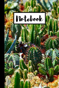 Notebook: Small Paperback Lined Cactus, Cacti Journal / Notebook / Diary 6X9