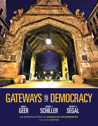 Gateways To Democracy: An Introduction To American Government (With Aplia Printed Access Card) (American And Texas Government)