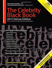 Load image into Gallery viewer, The Celebrity Black Book 2015: Over 50,000 Celebrity Addresses