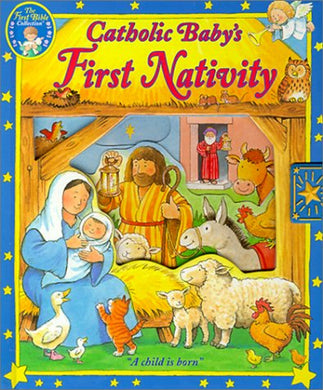 Catholic Baby'S First Nativity: A Child Is Born