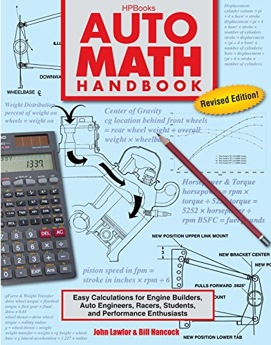 Auto Math Handbook Hp1554: Easy Calculations For Engine Builders, Auto Engineers, Racers, Students, And Per Formance Enthusiasts