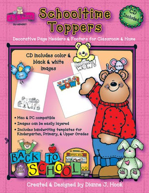 Schooltime Toppers: Decorative Page Headers & Footers For Classroom & Home
